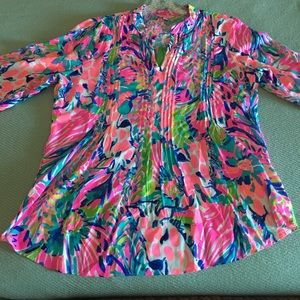 Lilly Pulitzer Sarasota Tunic Long Sleeve- Size XL